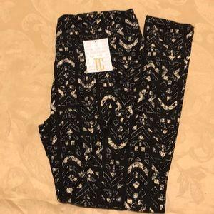 Lularoe leggings black white multi design NEW TC